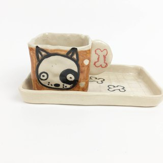 Nice Little Clay Handmade Cup Set_Dog Party Cup 0135-10
