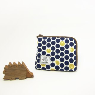 Ticket card coin purse <dots little hedgehog> (this paragraph has been broken)