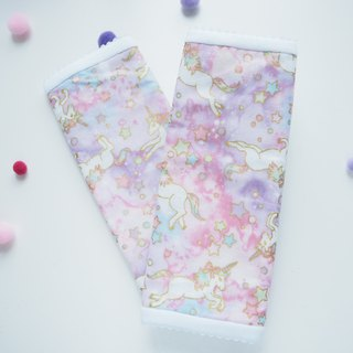 3ply double gauze strap cover Unicorn sucking pad