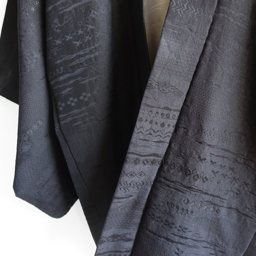 │Slowly│ Japanese antiques - light kimono long coat O29│ vintage. Retro.