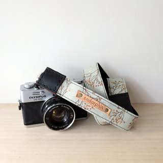 [Endorphin] handmade camera strap leather + cotton + metal buckle [TRAVELER Travel Series - Finland]