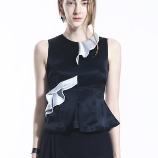 Modern Asymmetric Triacetate Tank Top
