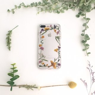 Winding:: embossed mobile phone case pressed flower phonecase