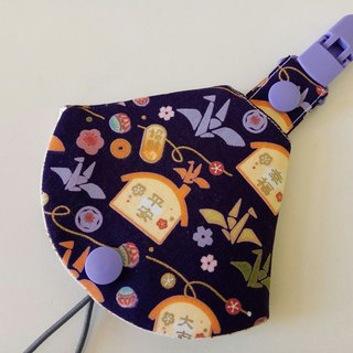 Peaceful health word two-in-one pacifier clip < pacifier dust bag + pacifier clip> dual function