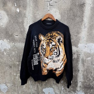 Gecko Gege - Japan - super-handsome tiger vintage sweater