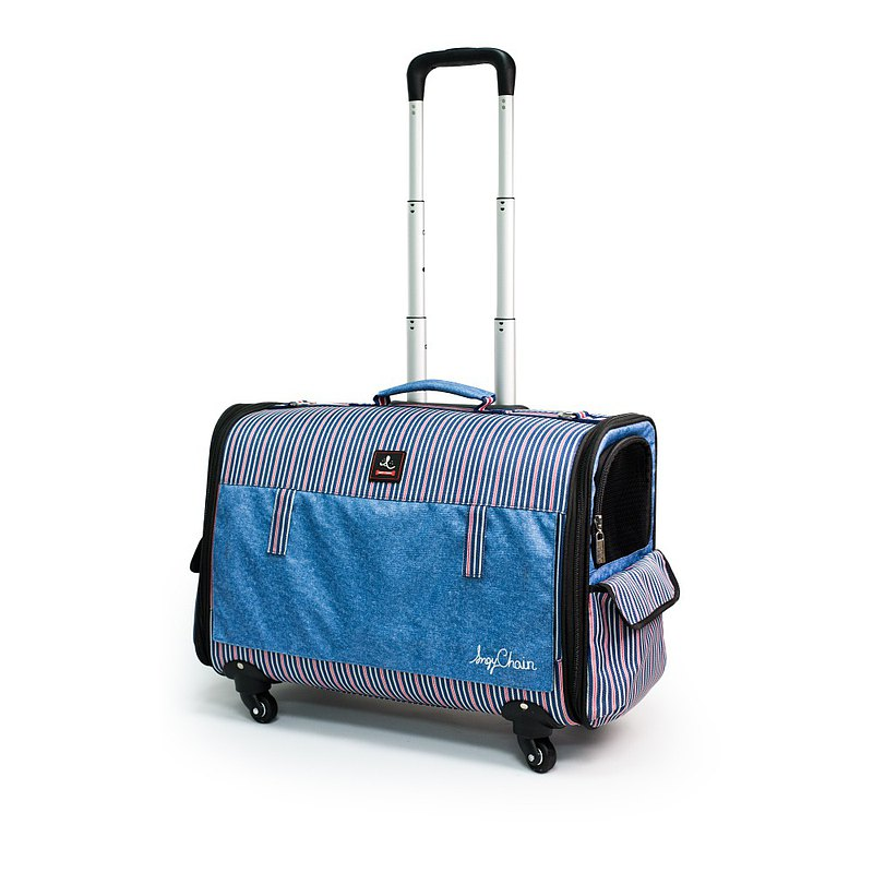 Eight kilograms pet trolley _ classic stripes