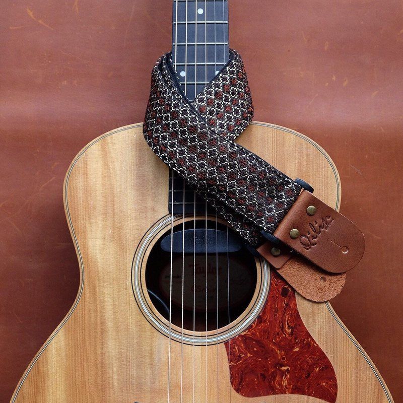 Brown Woven Guitar Strap