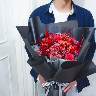 Amor Floral - Confession Successfully Proposing Large Bouquet (A) / Korean Bouquet Dry Flower
