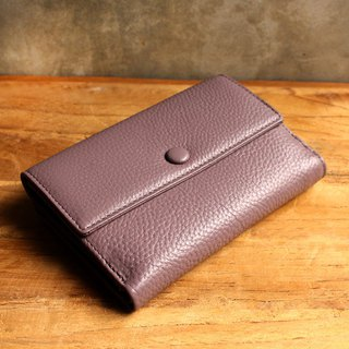 Leather Wallet - Melody - Purple / Mauve (Genuine Cow Leather) / Small Wallet
