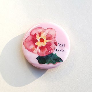 Cest la vie bloom badge pin