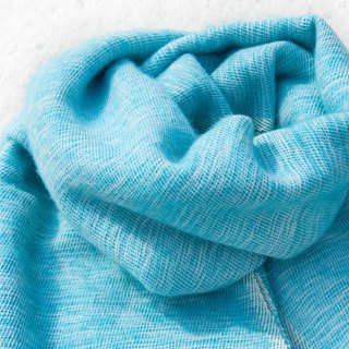 Wool shawl / knit scarf / knitted shawl / blanket / pure wool scarf / wool shawl - blue sky