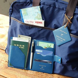 PLEPIC-Journey Set sail leather cover - Navy Blue, PPC93037
