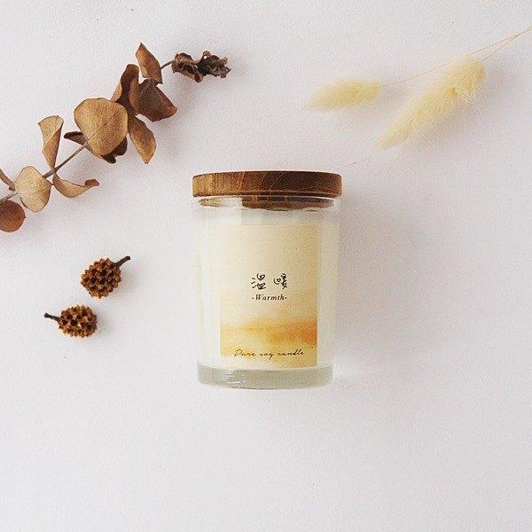 【溫暖】乳香+柑橘香 / 大豆精油蠟燭  60g