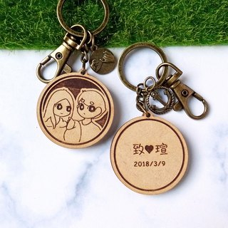 [Two in] ​​big eye baby customized couple key ring Valentine's Day gift Christmas gift anniversary