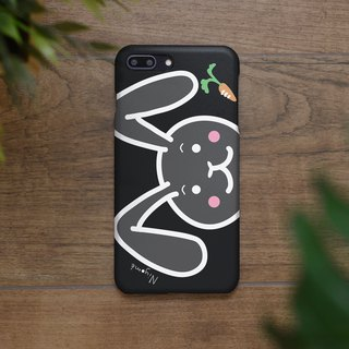 iphone case black cute rabbit for iphone5s,6s,6s plus, 7,7+, 8, 8+,iphone x