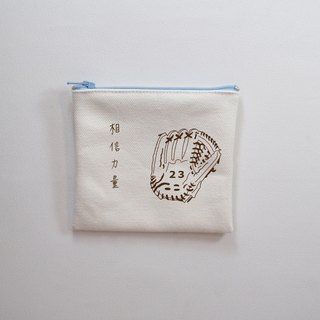 I believe the power players card collection baseball glove canvas bag customizable inspirational player character name