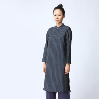 BUFU  washed indigo Chinese dress D160702