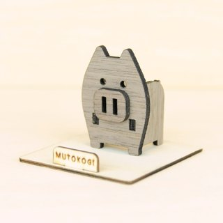 Super happy pig x handmade wooden phone holder mobile phone holder wedding small things exchange gift MUTOKOGI