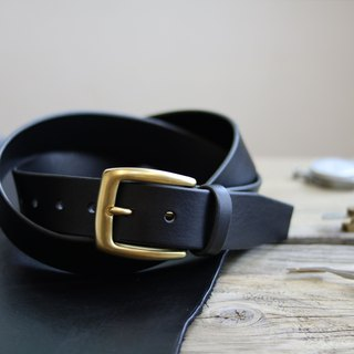 <CANCER流行實驗所> - Handmade belt / 40mm / suitable for men and women / Father&#39;s Day gift / black / brass