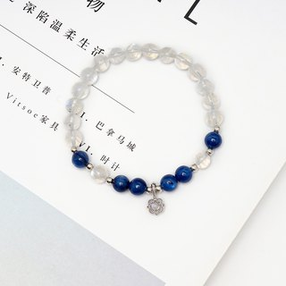 Strong Blue Moonlight Bracelet VISHIS925 Sterling Silver Sri Lankan Ladies 6th Birthday Birthstone Gift
