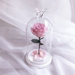 (Pink Rose) Little Prince Eternal Flower Glass Graduation Gift/Eternal Flower/Wither Flower/Chinese Valentine's Day/Gifts