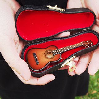[dark guitar] mini guitar mini model charm packaging accessories custom texture gift