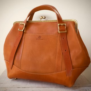 Tochigi Leather × Himeji Leather Nume Leather Hamaguchi 2way Bag montagna L Camel
