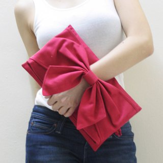 BOW CLUTCH BAG / WRISTLET / MINI IPAD SLEEVE / DINNER BAG / EVENING BAG / GIFT