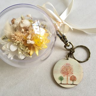 Oz dry dry eternal flower ball + key ring group (custom)