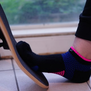 5719 cotton foot bow pressure jogging ankle socks black (3 colors optional)