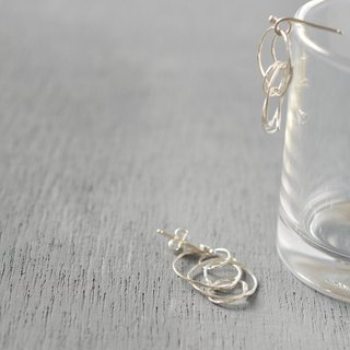 """kemuri""silver pierced earrings"