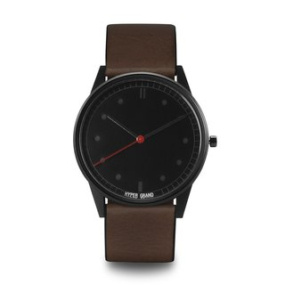 HYPERGRAND - 01 Basic Series - Black Dial Brown Leather Watch