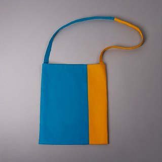 Blue / yellow cotton bag