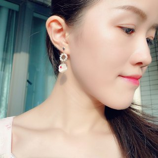 925 Silver-Baroque Pearl Earrings