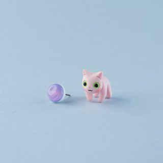 Sphynx Cat - Polymer Clay Earrings, Handmade&Handpaited Catlover Gift