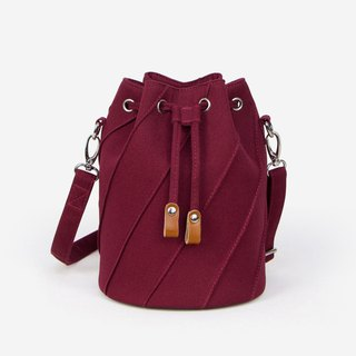 Canvas bucket bag SEWING stitching craft canvas shoulder strap version 8 color optional side backpack crossbody bag