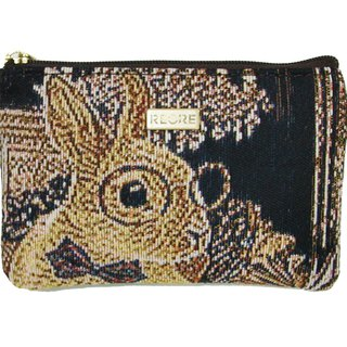 Silk flower weaving card coin purse rabbit house coffee