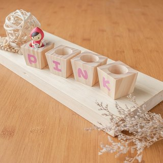 【Alphabet magnet tub】 manual fleshy wood flower / without planting admission