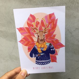 Christmas Postcard - Mr. Elk