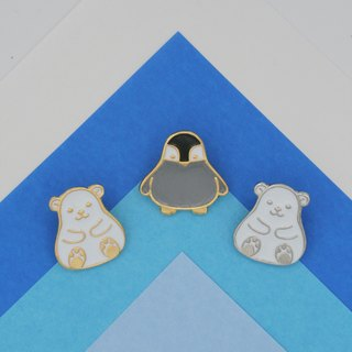 Arctic Animal Lapel Pin (Polar Bear; 2 colors option)