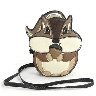 Sleepyville Critters - Chipmunk with Acorn Crossbody Bag