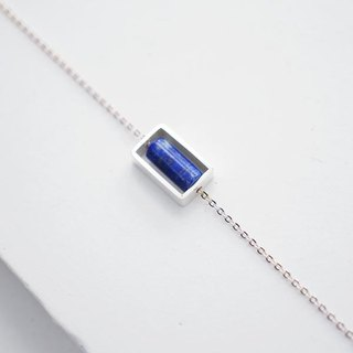 Natural Gems Lapis Handmade Sterling Silver Necklaces