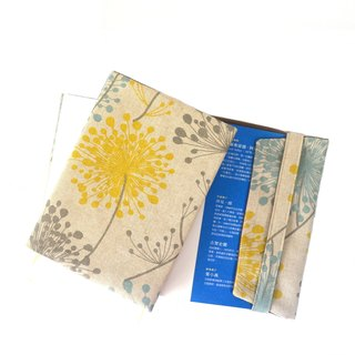 Irish Daisy fabric book cover with bookmark handmade canvas elegant