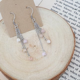 cirCle Life. Rain little pink opal earrings _