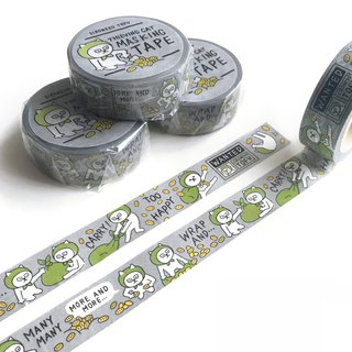 Washi Tape -TOFU white cat-