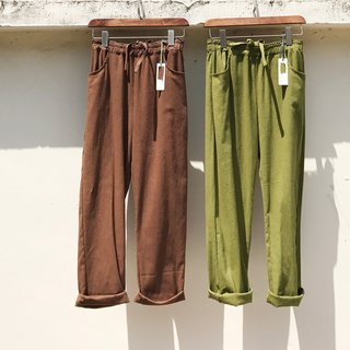 RH clothes / cotton slacks / brown