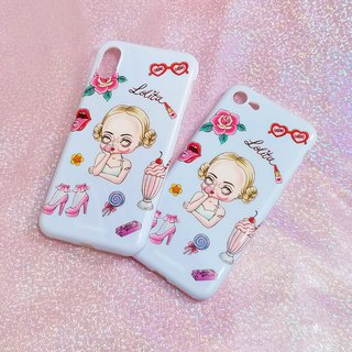 Dark sweet wind illustration Lolita girl Iphone phone case