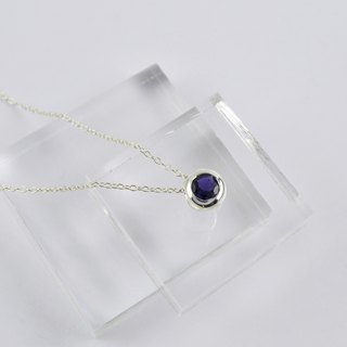 Sterling Silver Iolite Pendant Necklace