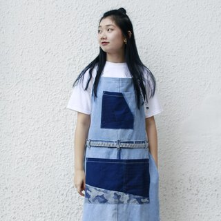 牛仔拼布圍裙 denim patchwork apron