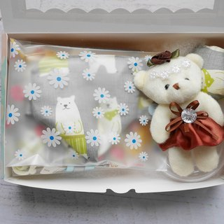 Polar bear with the moon gift box pacifier pacifier storage bag bear doll